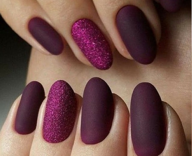 Dark Parple&Galiter Parple-nail polish designs