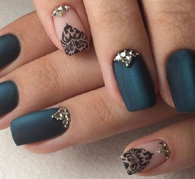 Dark Slategray-nail art designs