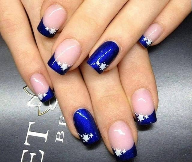 Simple Blue-nail art designs