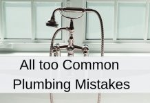 common plumbing mistakes